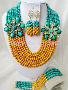 Online Shopping at a cheapest price for Automotive, Phones & Accessories, Computers & Electronics, Fashion, Beauty & Health, Home & Garden, Toys & Sports, Weddings & Events and more; just about anything else Turquoise Party, Orange And Turquoise, Turquoise Beads, Green And Orange, African Beads, Jewelry Party, Beaded Necklace, Necklaces, Wedding Events