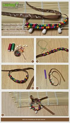 How to Make Ethnic Wood Bead Bracelets with ... | Jewelry Making Tuto�� by wanting