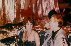 """bowiepills: """"David Bowie with Coco Schwab through the years part 1 2 """""""