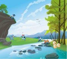 Pokemon at the river