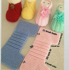 Yapmak işleyenler için harika ve pratik bir model👏👏👏 . A great and practical model for those who do. I sift # # Göznur of… Baby Booties Knitting Pattern, Crochet Baby Shoes, Crochet Baby Booties, Baby Knitting Patterns, Baby Patterns, Free Knitting, Crochet Patterns, Baby Sandals, Knitted Slippers