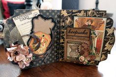 Butterfly Kisses: Another Graphic 45 Steampunk Debutante Altered Box & Mini Album