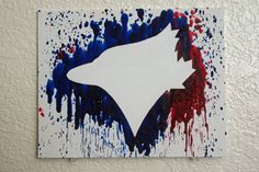 Toronto Blue Jays Melted Crayon Art by MikeAndKatieMakeArt on Etsy