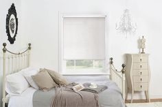 Neutral and elegant, this roller blind will look fabulous in your home. #blackout #roller #blinds