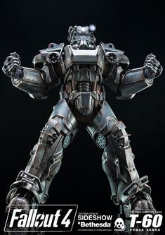 The Fallout 4 T-60 Power Armor Sixth Scale Figure from Threezero is now available at Sideshow.com for fans of video games.