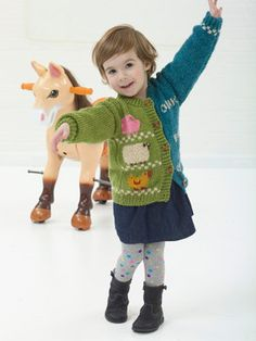 Animal Talk Cardigan in Lion Brand Heartland - L32276 | Knitting Patterns | LoveKnitting