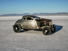 Nothing says hot like a '34 Ford five-window coupe with a hopped-up flathead for power.