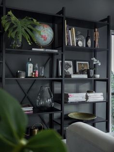 Lundia 2 bay Adjustable shelving. Dressed beautifully for the home.