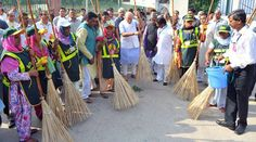 "India Prime Minister Narendra Modi has launched the ""Swachh Bharat Abhiyan (Clean India campaign )"" on Mahatma's Gandhi's birth anniversary 2014."
