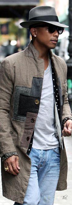 Pharrell Williams ~ men's street fashion