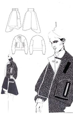 Fashion Design Portfolio - fashion illustrations, fashion sketchbook layout // Andrew Voss