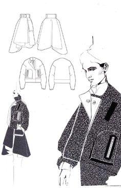 Fashion Design Portfolio - fashion illustrations, fashion sketchbook layout // Andrew Voss