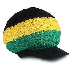 81968c93f36 Jamaica Cap Hat Reggae Rasta Crown Dreadlocks Roots Selassie Africa Marley  M L