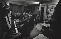 W. Eugene Smith:  Thelonious Monk and Town Hall Band in rehearsal, c. 1957-1965.
