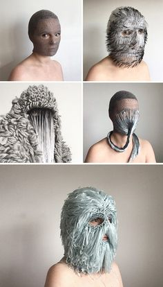 Extravagant Masks by threadstories Offer Cultural Commentary on Selfhood and Social Media Pandora Bracelets, Pandora Jewelry, Pandora Charms, Pointed Ears, Colossal Art, Full Face Mask, Lady Gaga, Wearable Art, Photo Art