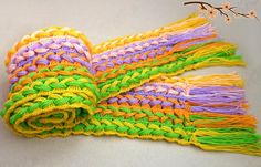 This is something new for me, crochet and weaving is combined, and ruler can be used in this project, too.Materials: Yarn Crochet hook Ruler Instructions: