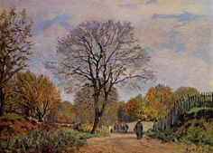A Road in Seine et Marne - Alfred Sisley