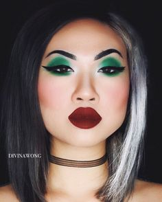 CRUELLA DE VIL / Instagram: divinawong #makeup #glam #beauty #halloweenmakeup #makeupoftheday