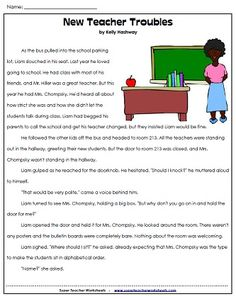 back to school reading comprehension passage! More