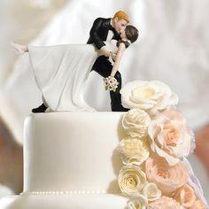 Romantic Dip Dancing Couple Cake Topper