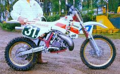 1988- Chesterfield sponsored Yamaha RH250 works bike
