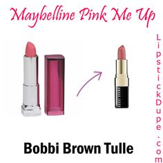 Spring dupes: Maybelline Pink Me Up dupe for Bobbi Brown Tulle #dupe #dupes #lipstickdupe www.lipstickdupe.com