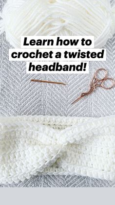 Crochet Headbands, Crochet Headband Pattern, Crochet Beanie, Crochet Scarves, Baby Blanket Crochet, Crochet Yarn, Crochet Clothes, All Free Crochet, Easy Crochet Patterns
