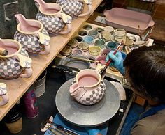 One KingsLane.com..MacKenzie Child's..Bowled Over..Every ceramic piece crafted of clay and dried for up to 3 weeks before its initial 24-hour kiln firing. Proof that these items are sturdy : They withstand temperatures of 375 degrees!