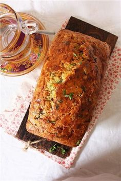 Cheese, Olive & Herb Quick Bread -- the perfect accompaniment to many meals. Also, if you're like me and love to cook but are not enamored with yeast baking, you'll love this quick bread. Herb Bread, Good Food, Yummy Food, Garam Masala, Quick Bread, Cookies, Sweet Bread, Bread Baking, Cooking Recipes