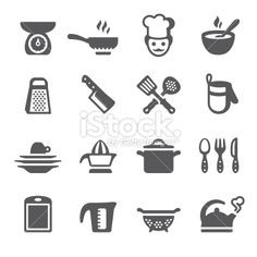 Mobico icons - Cooking Royalty Free Stock Vector Art Illustration