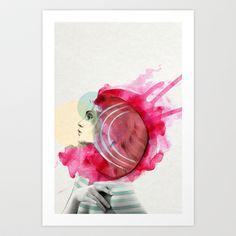 Bright Pink  Art Print by Jenny Liz Rome - $18.00