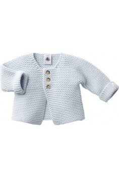 Petit Bateau Baby Cardigan Light Blue                                                                                                                                                                                 Mais