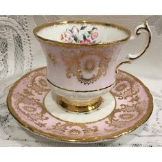 Vintage Bone China Tea Cup Saucer English Paragon ($26) ❤ liked on Polyvore featuring home, kitchen & dining, drinkware, vintage saucer, vintage bone china tea cups, english tea cups, outdoor drinkware and white teacup