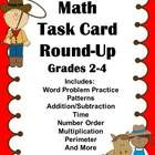 Task Cards:  Math Task Card Round Up