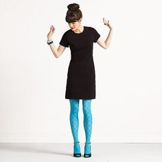 Note to self: remember colored tights to go with that H&M dress you have.