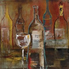 Wine Cellar II by Bridges Fine Art Canvas 20 x 20 in Gallery Wrap Wall Decor by InGallery.com, http://www.amazon.com/dp/B0089G9FIA/ref=cm_sw_r_pi_dp_XiMgrb0AZFD2Y