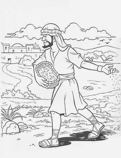 Parable Of The Sower Coloring Page For Kids KidsFull Size Image