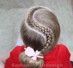 Kids Curly Hairstyles, Braided Ponytail Hairstyles, Dance Hairstyles, Creative Hairstyles, Little Girl Hairstyles, Curly Hair Styles, Natural Hair Styles, Fine Hair, Hair Looks