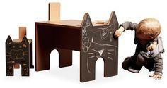 NOtoys chalkboard furniture for kids. As seen on Paul+Paula, via Flickr