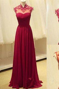 Long Prom Dresses,Open Backs Formal Dresses,A-line Wine Red Prom Dresses uk PH191