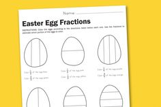 Easter Egg Fractions Free Printable Worksheet from PagingSupermom.com #fractions #worksheets #easter