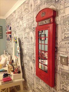 London themed room. Más