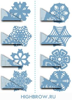 how to cut a snowflake - crafts ideas - crafts for kids