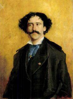 Portrait of Violinist Pablo de Sarasate,1877 by Ferenc Paczka (Hungarian 1856-1925)