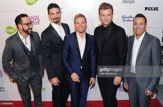 Singers AJ McLean, Kevin Richardson; Brian Littrell, Nick Carter and Howie Dorough of the Backstreet Boys attend the premiere of Gravitas Ventures' 'Backstreet Boys: Show 'Em What You're Made Of' at ArcLight Cinemas Cinerama Dome on January 29, 2015 in Hollywood, California.