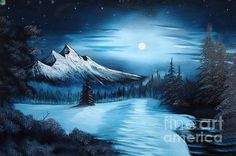Bob Ross style painting....