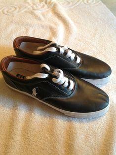 ed09e331840edf Polo Ralph Lauren Mens Size 12 D Shoes Vaughn Black Leather #fashion  #clothing #