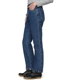 L.L. Bean: Double L Jeans, Straight-Leg Flannel-Lined (for football games, Christmas tree hunting, and more!)
