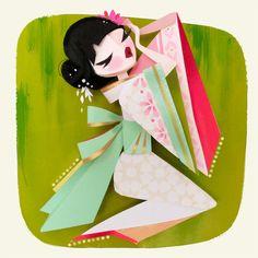 Geisha Print by britsketch on Etsy