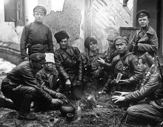 Russian revolutionary Red Guards in 1919 during the civil war